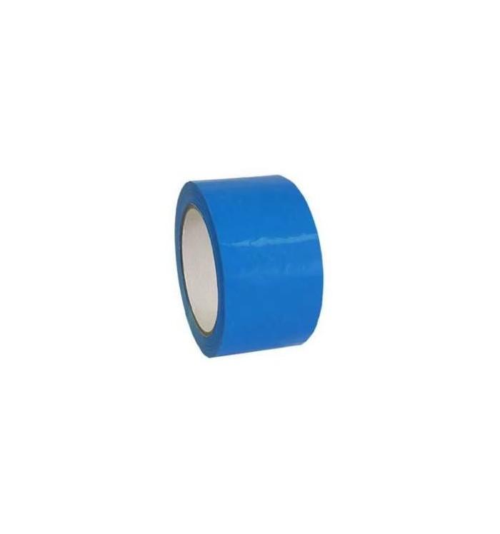 Rollos de cinta adhesiva PVC 66*50 azul