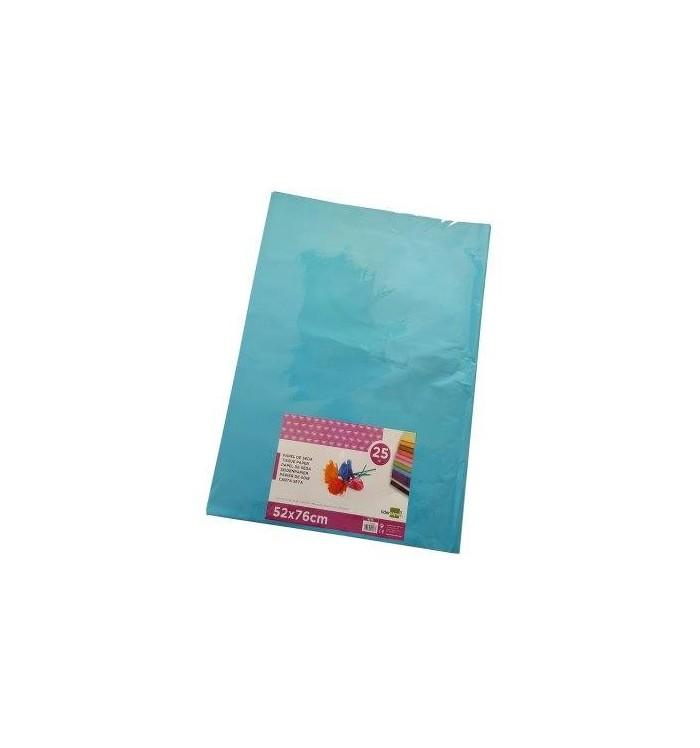 Papel de seda azul claro