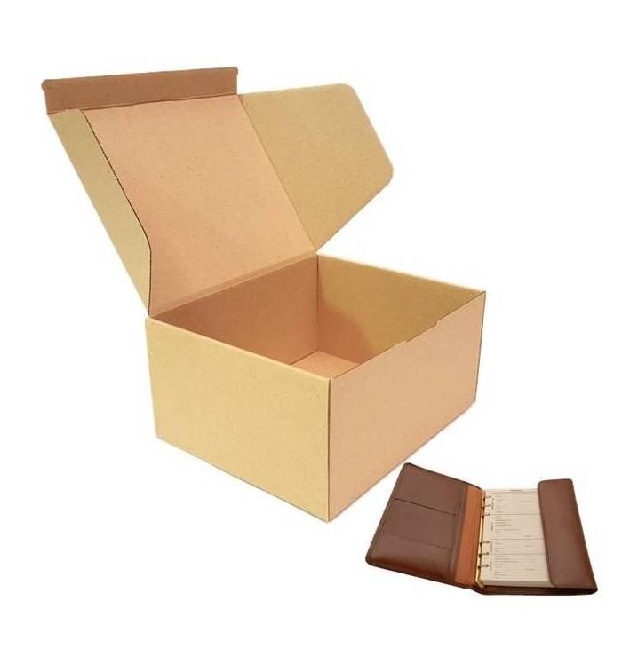Cajas de cartón automontables F-421 de 25-20-12