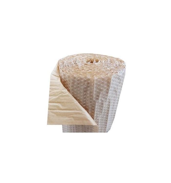 Rollo de plástico burbuja con papel kraft de 40*15 ml
