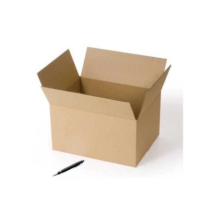Cajas de cartón de canal doble de 36.5 x 26.6 x 16.1 neutras