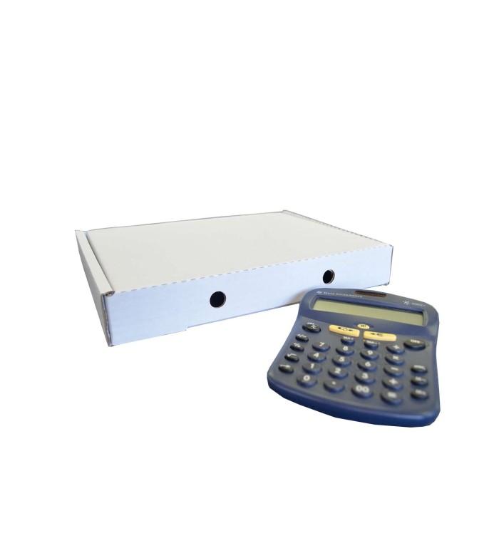 Cajas de cartón automontables F-427 de 30-22-40 Blanca