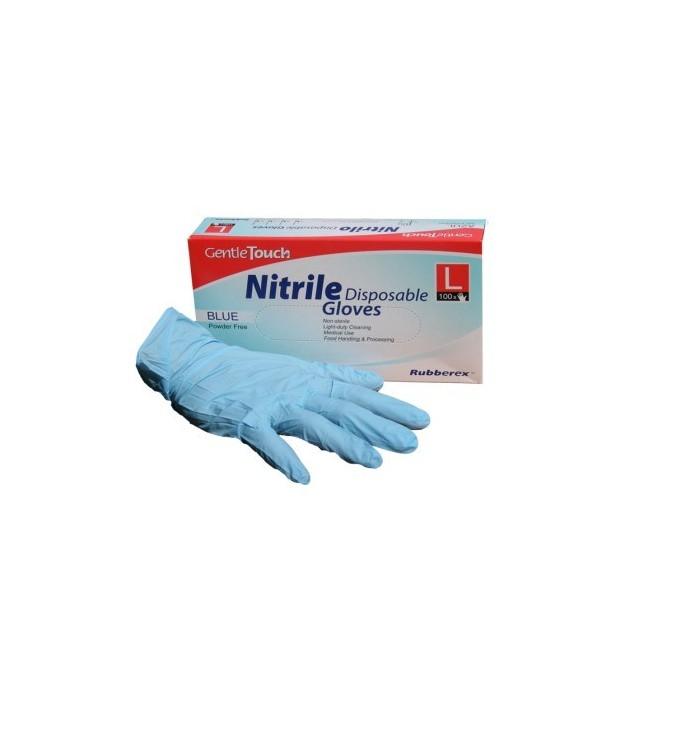 Guantes de Nitrilo azul, talla M