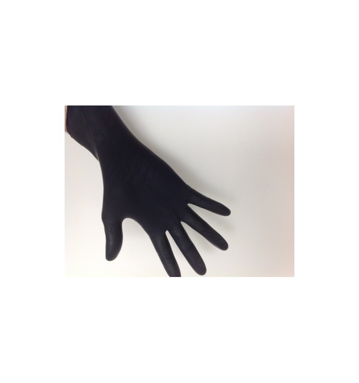 Guantes de Nitrilo negro, talla M