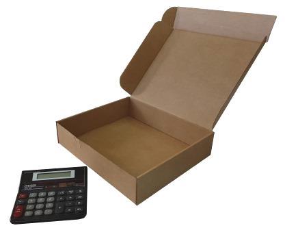 cajas de cartón automontables de 28-25-6
