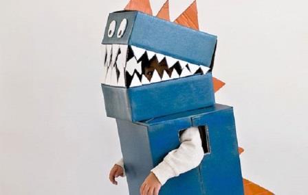 Disfraces con cajas de cartón