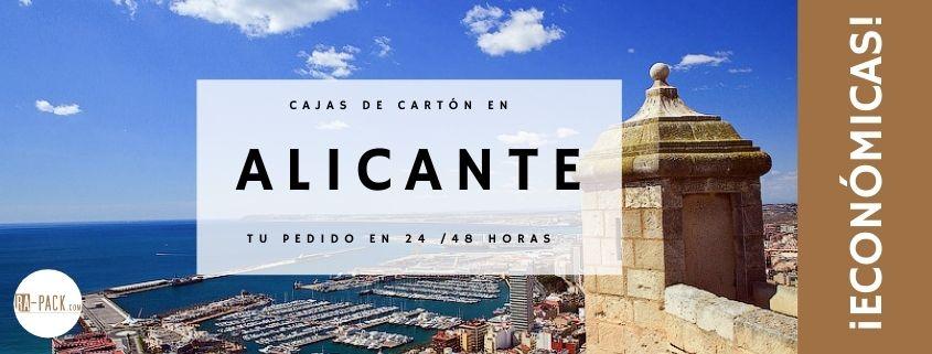 Cajas de cartón baratas en Alicante