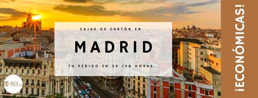 Venta de cajas de cartón en Madrid