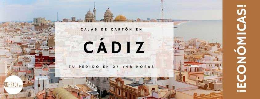 Cajas de cartón baratas en Cádiz y embalajes
