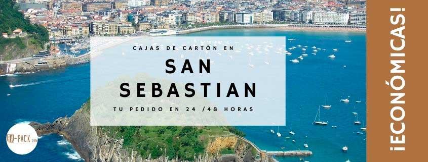 Cajas de cartón en San Sebastián (Gipuzkoa)