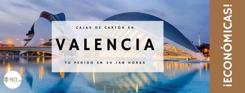 Comprar cajas de cartón en Valencia