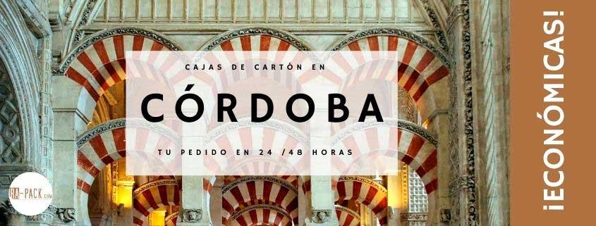Comprar cajas de cartón en Córdoba