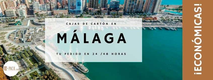 Comprar cajas de cartón en Málaga económicas